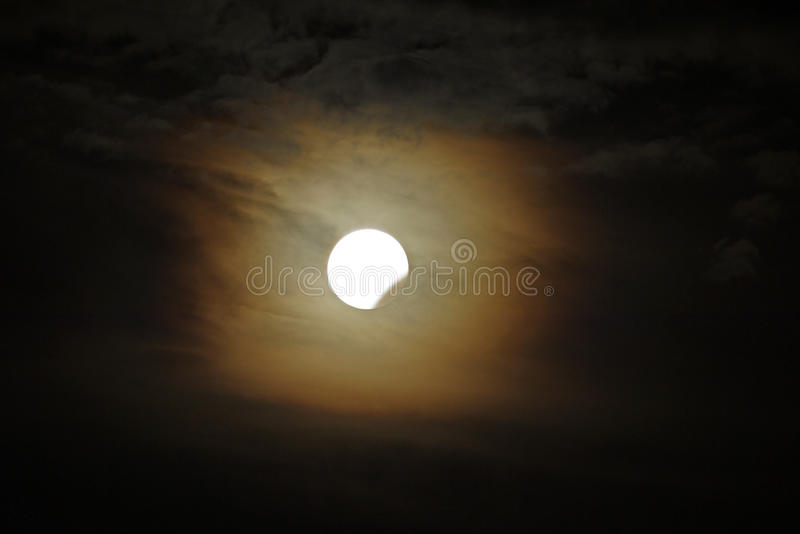 Partial Lunar Eclipse royalty free stock photos