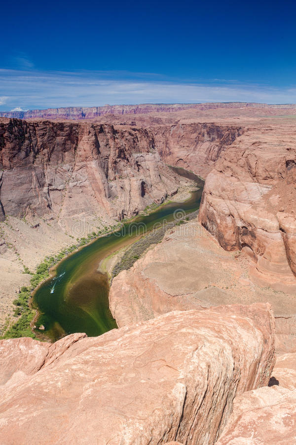Partial View of Horseshoe Bend in Arizona State, United States o. F America. Vertical Image Composition stock photo