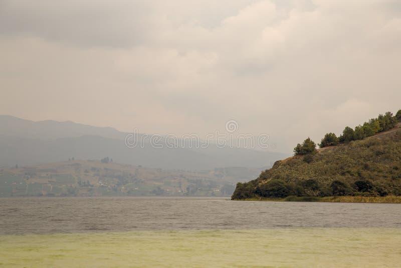 Partial view of the lake Tota stock photos