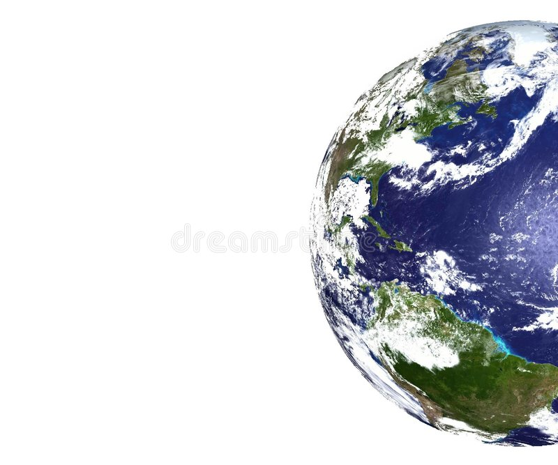 Partial view of Planet Earth stock images
