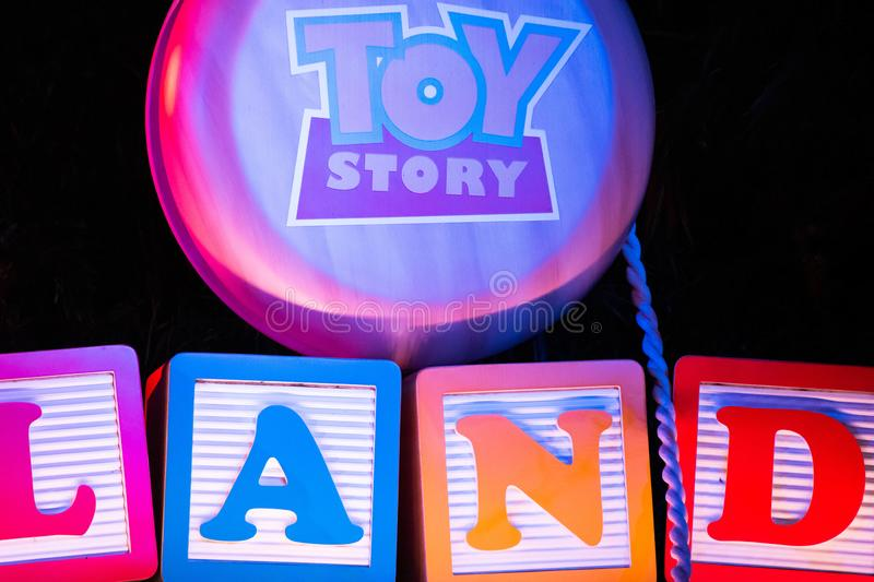Partial view of Toy Story Land at Hollywood Studios 163 stock photography