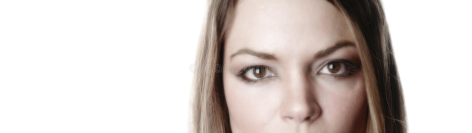 Partial woman face-5 stock images