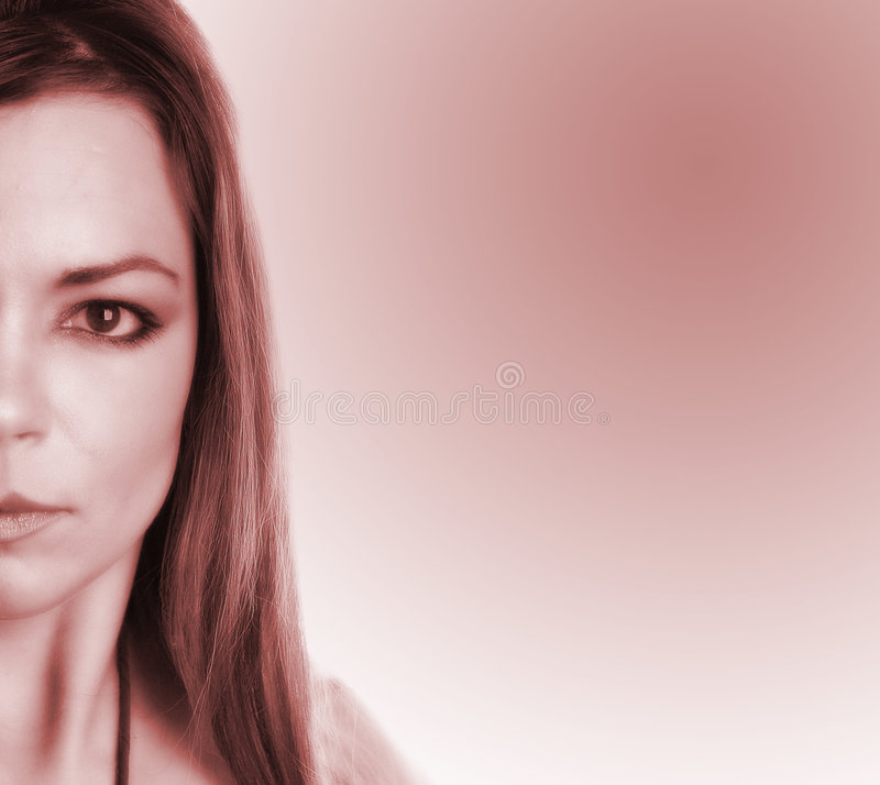 Partial woman face stock photography