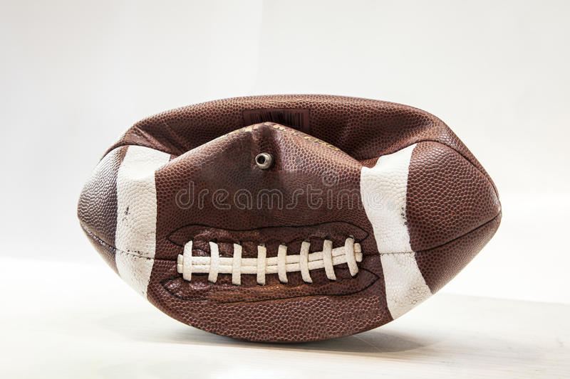 Partially Delfated Football stock image
