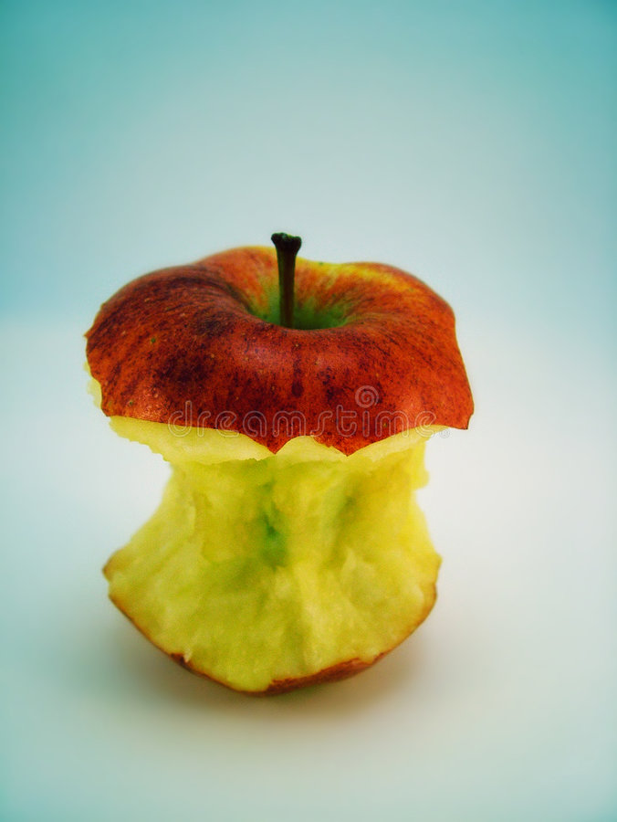 Free Partially Eaten Apple Royalty Free Stock Photography - 7177537