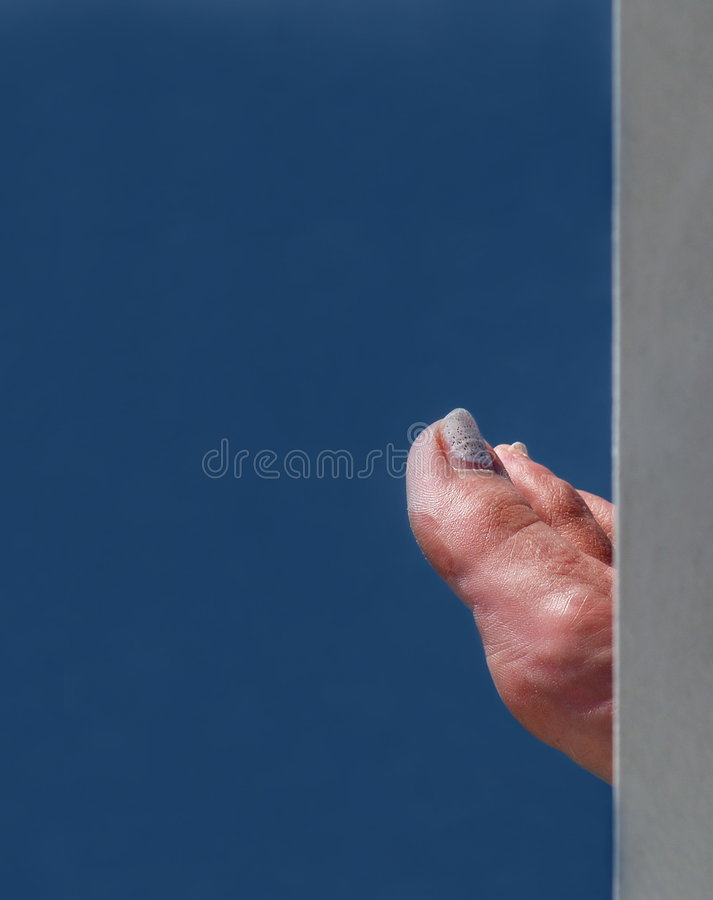 Download Partially hidden foot stock photo. Image of showing, white - 3442416