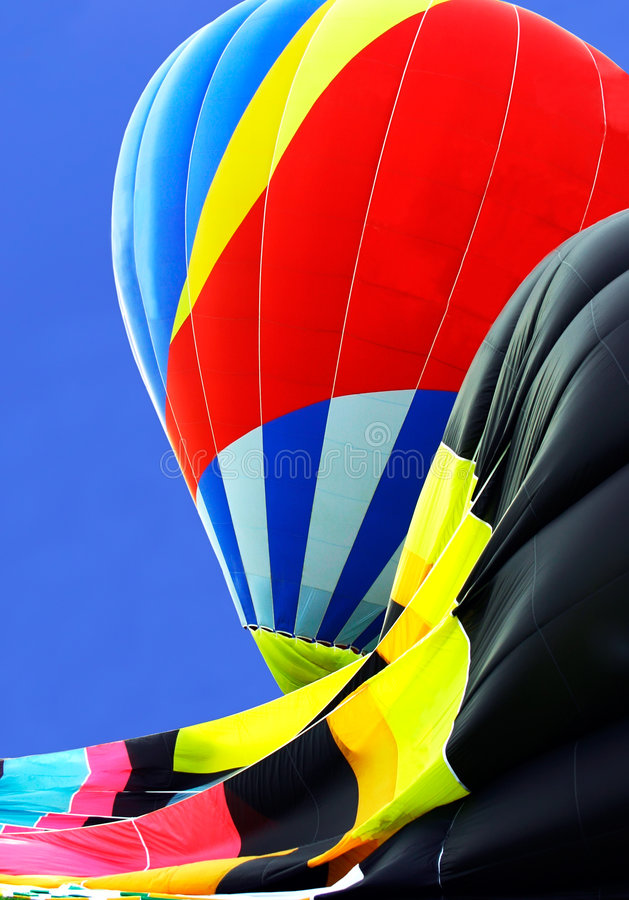 Download Partially Inflated Hot Air Balloons Royalty Free Stock Photo - Image: 1220025