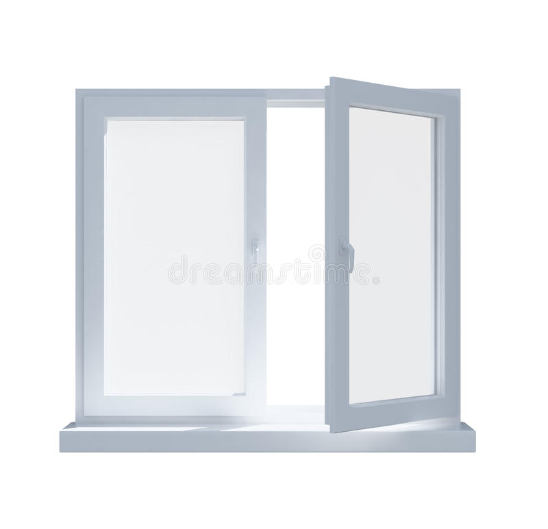 Download Partially Opened Window Isolated On Stock Illustration - Illustration: 26015027