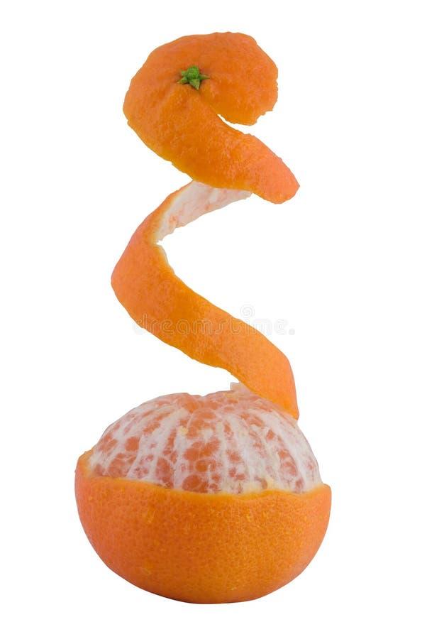 Partially Peeled Tangerine stock photography
