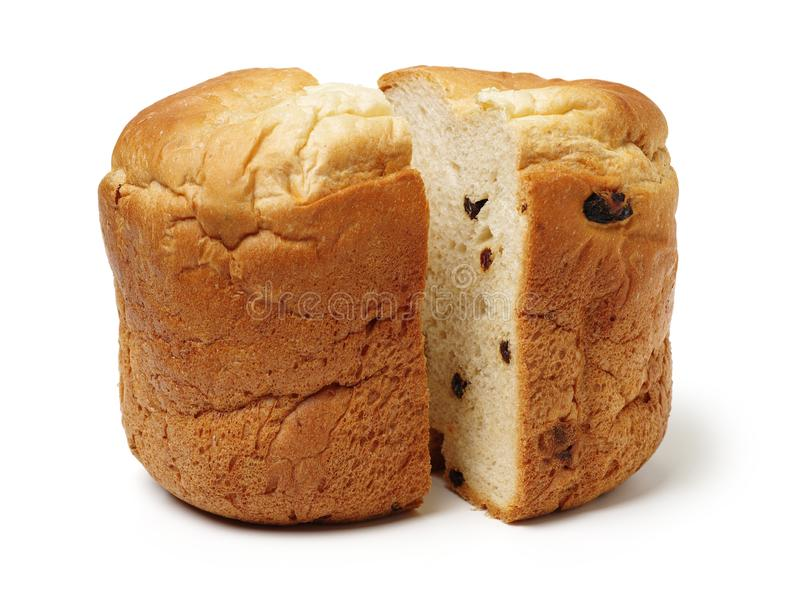 Partially sliced loaf of the wheat sourdough hearth bread with bran stock images