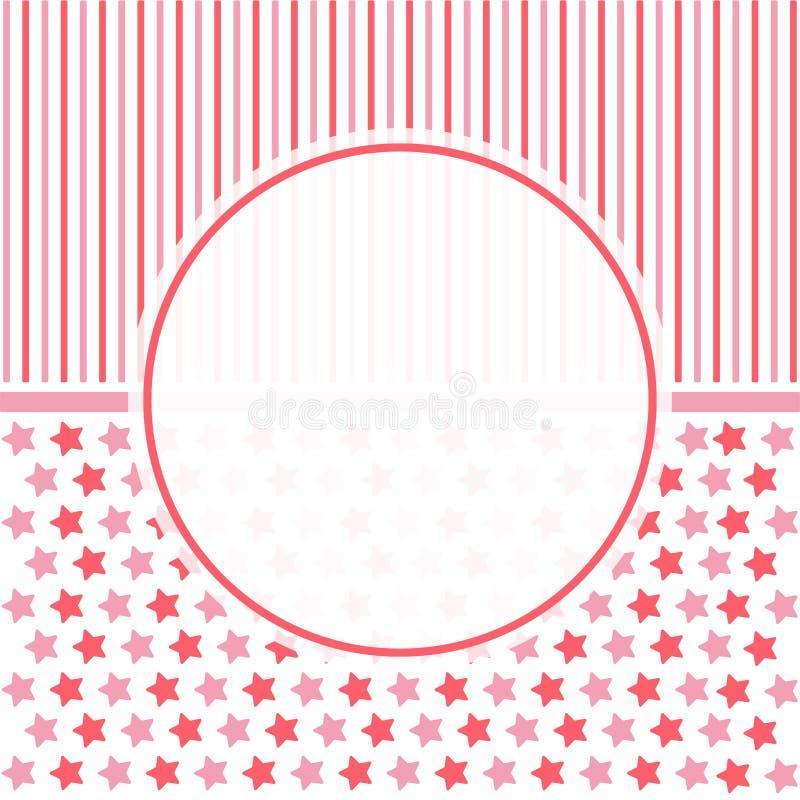 Partibakgrund med gullig bakgrund, bakgrund för baby showerparti vektor illustrationer