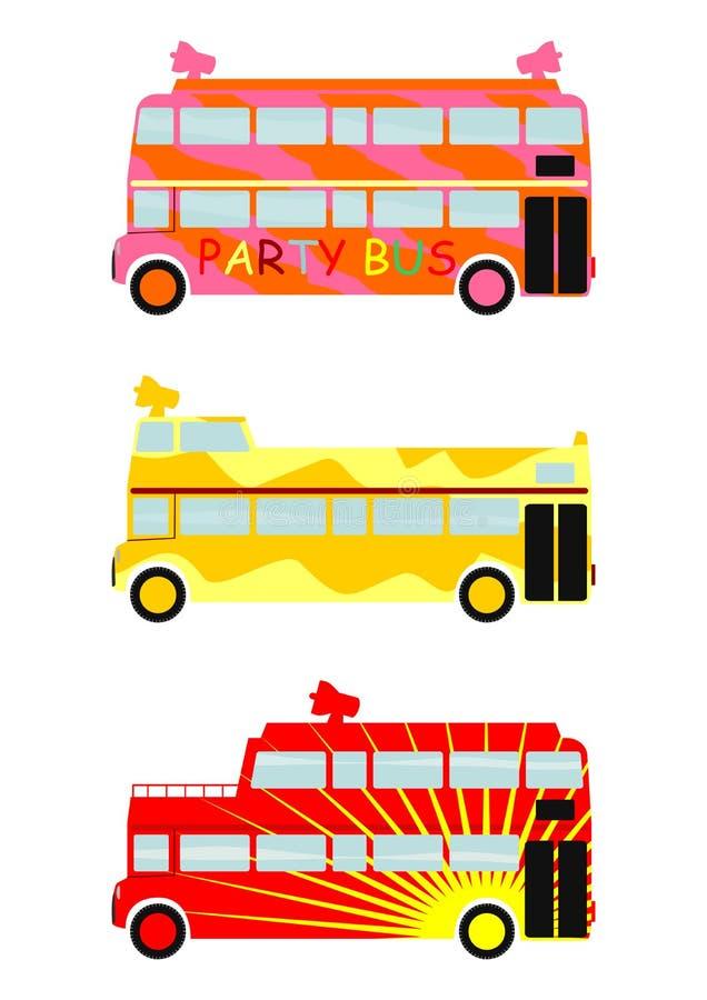 Partibuss royaltyfri illustrationer