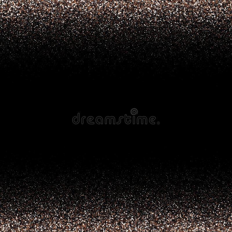Particelle astratte bianche su fondo nero Imitazione di caduta dei fiocchi di neve Struttura d'argento luminosa di Bokeh digitalm illustrazione di stock