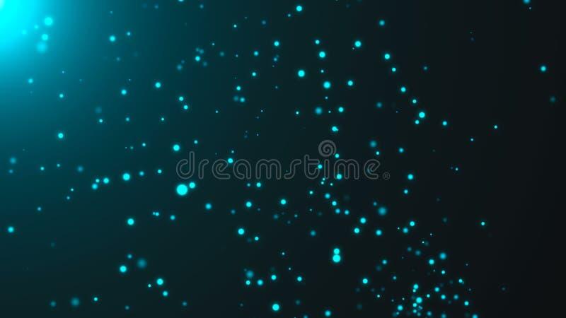 Particelle blu tremule Contesto astratto di Digital royalty illustrazione gratis