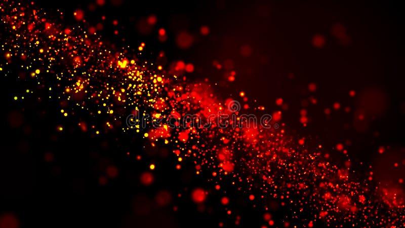 Particelle calde del sangue astratto del fondo immagine stock libera da diritti