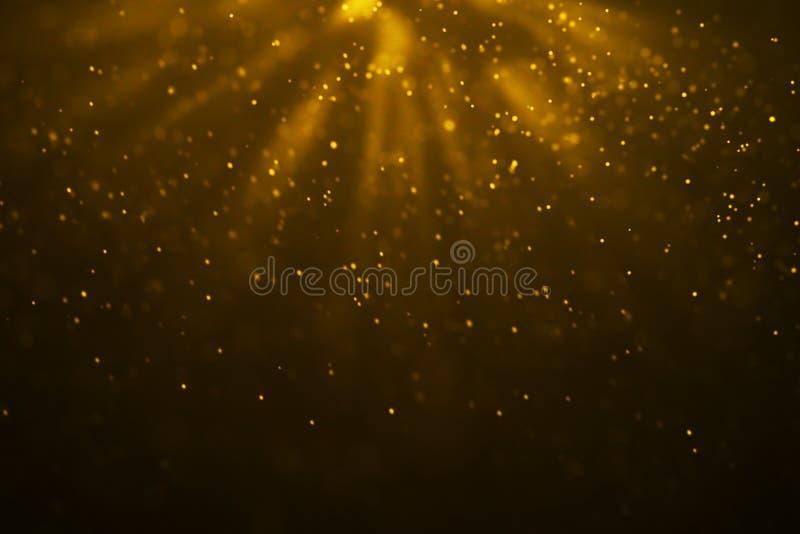 Particelle di polvere di scintillio della scintilla di pendenza dell'oro di Natale dalla cima royalty illustrazione gratis