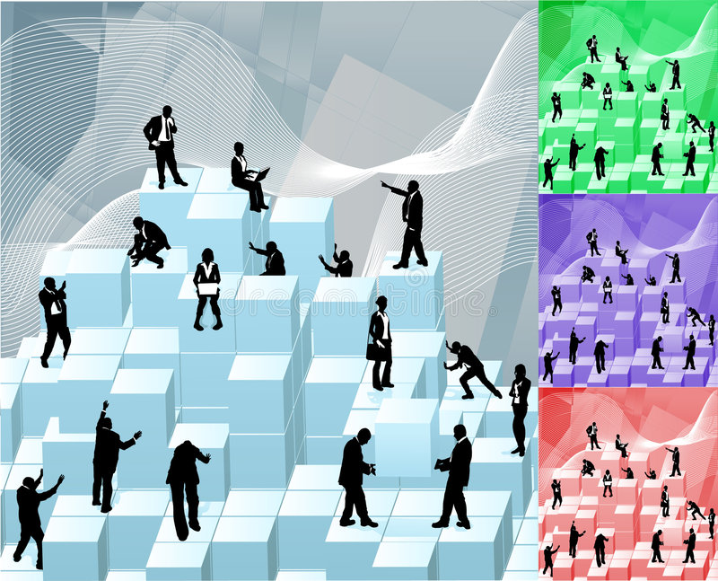Particelle elementari di affari illustrazione vettoriale