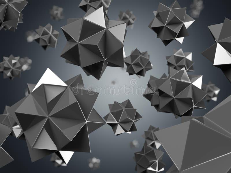 Particelle nane nere illustrazione vettoriale