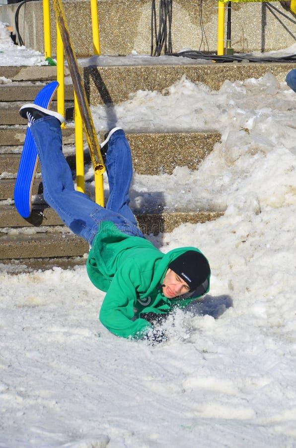 Participant au snowboarding photos stock