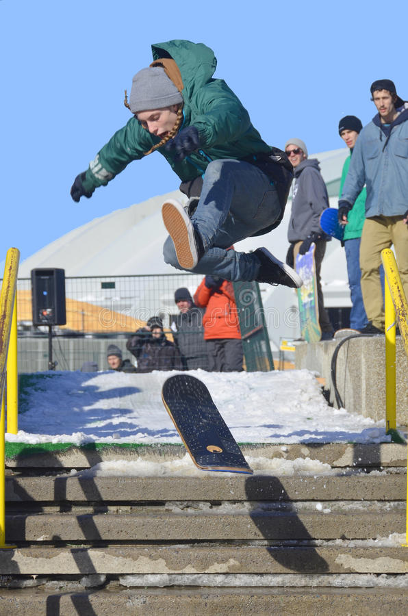 Participant au snowboarding image stock
