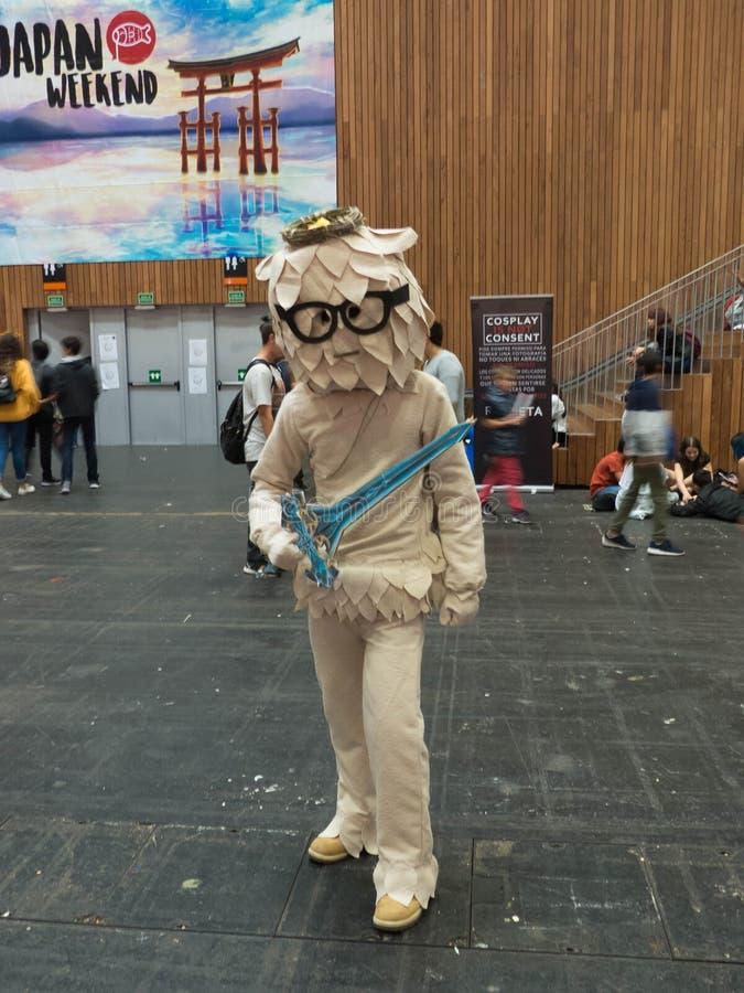 PARTICIPANT DÉGUISÉ PENDANT LE WEEK-END DU JAPON DE BILBAO, LE 20 OCTOBRE 2018 photo libre de droits