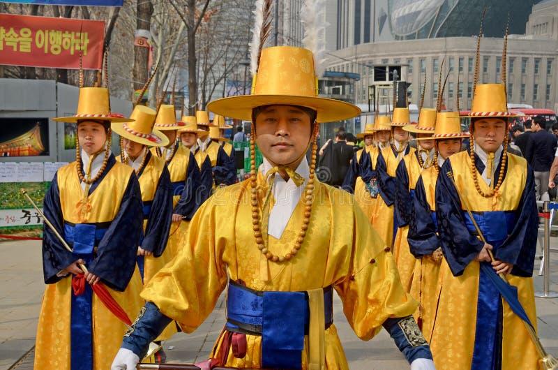 Participant at the Deoksugung Palace Royal Guard-Changing stock images