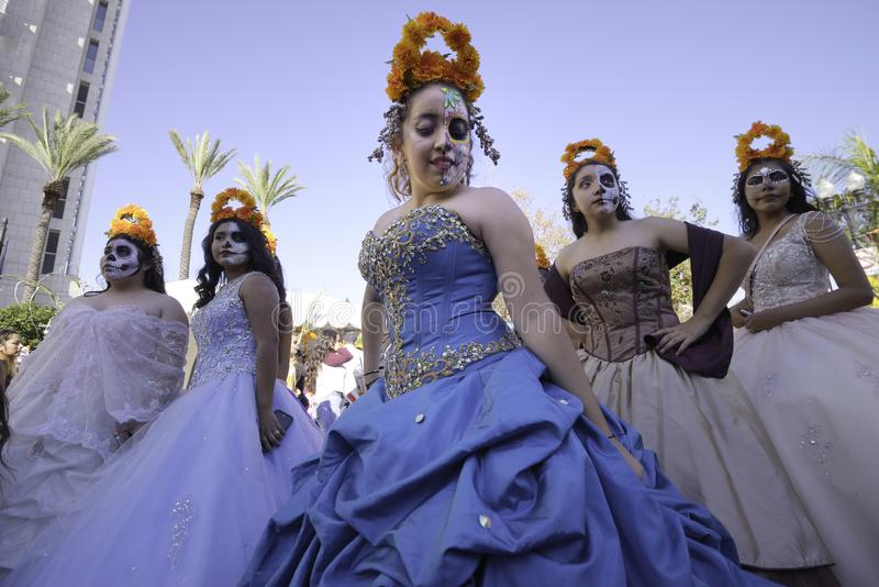 Participante em De la Muertos fotografia de stock royalty free