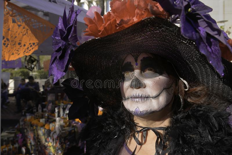 Participante em De la Muertos fotografia de stock