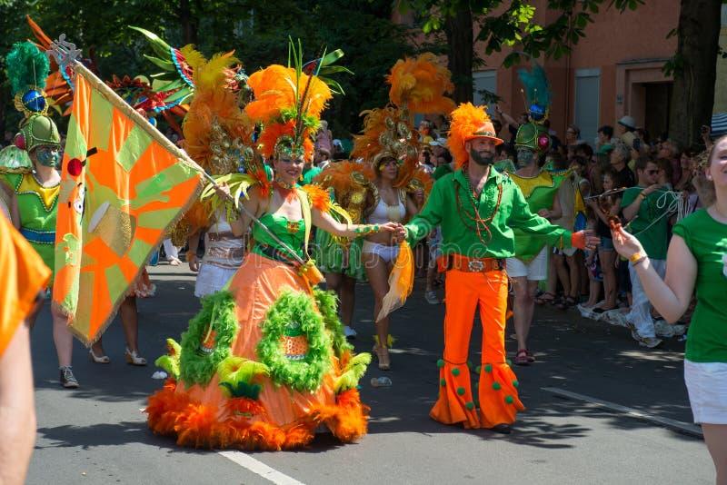 Participantes no der Kulturen de Karneval fotografia de stock