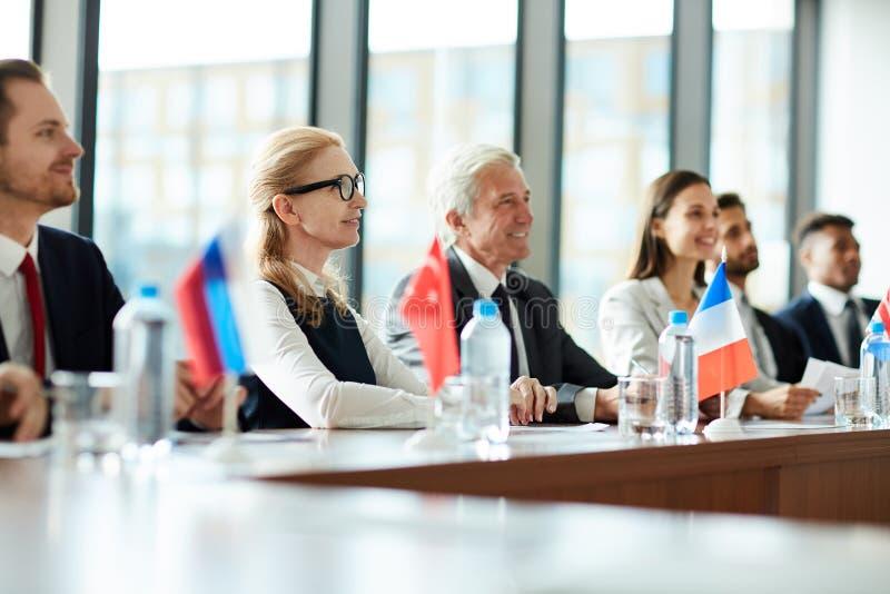 Participants étrangers image libre de droits