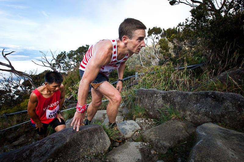 Download Participants Climbing Up Mt Kinabalu In Race Editorial Image - Image of moving, legs: 18236945
