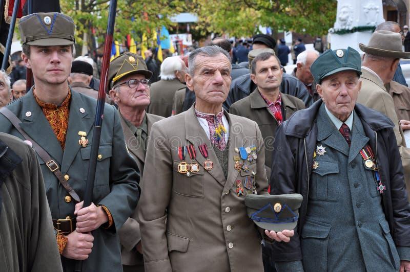 Participants de la lutte de libération des personnes ukrainiennes photo libre de droits