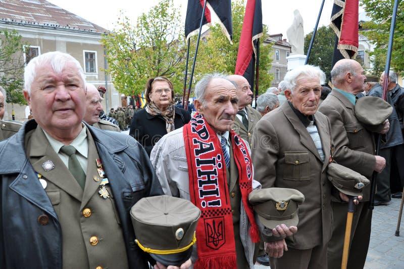 Participants de la lutte de libération du people_ ukrainien photographie stock