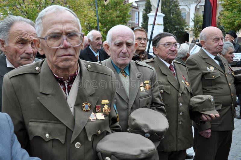 Participants de la lutte de libération du people_ ukrainien photos stock