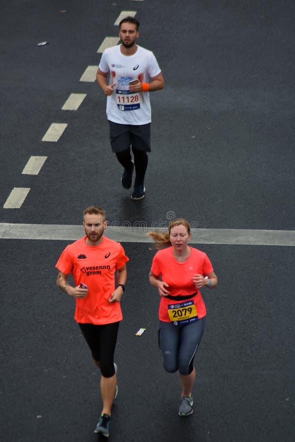 Participants de marathon de 6 Moscou images libres de droits