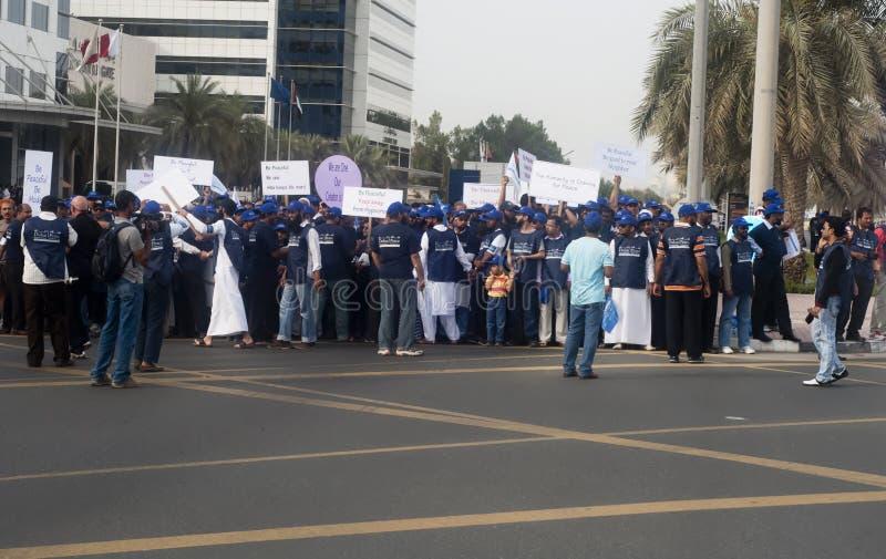 Participants de mars de paix photographie stock libre de droits