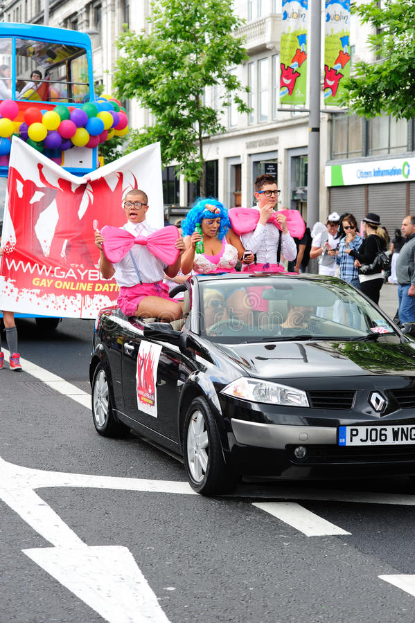 Participants at Dublin LGBTQ Pride Festival 2010 royalty free stock image