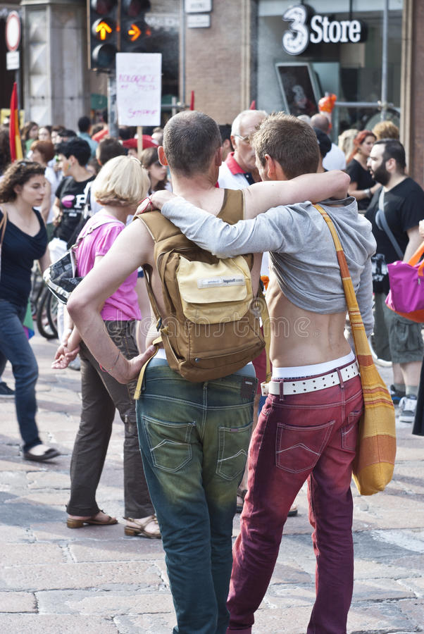 Download Participants At Gay Pride 2012 Of Bologna Editorial Stock Photo - Image: 25390883