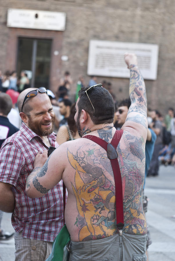 Download Participants At Gay Pride 2012 Of Bologna Editorial Image - Image of festival, busy: 25431155