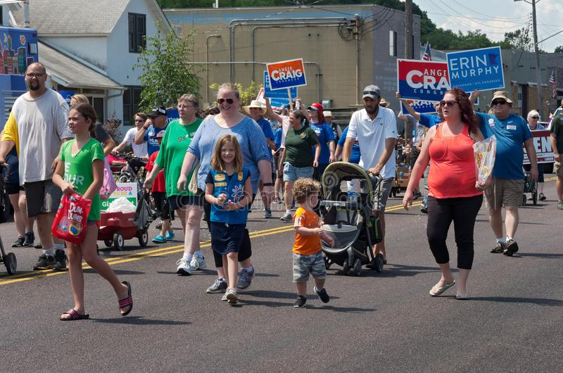 Participants March in Mendota Days Parade royalty free stock image