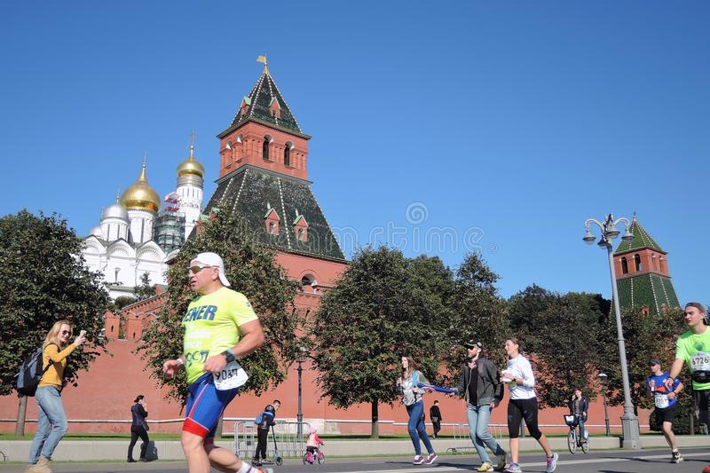 Participants of 5th Moscow Marathon royalty free stock photo