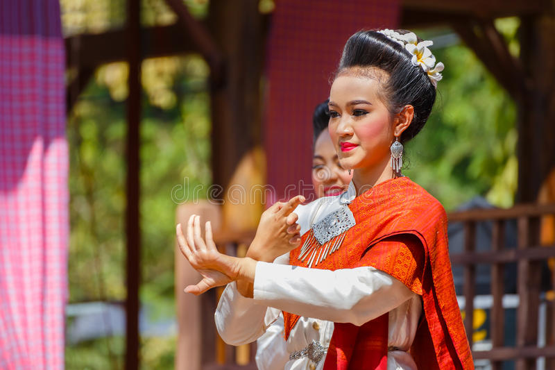 Participants at Traditional Culture Festival. BANGKOK, THAILAND - JANUARY 14 2016: Participants take part in the celebration of Thai Traditional Culture Festival royalty free stock photography