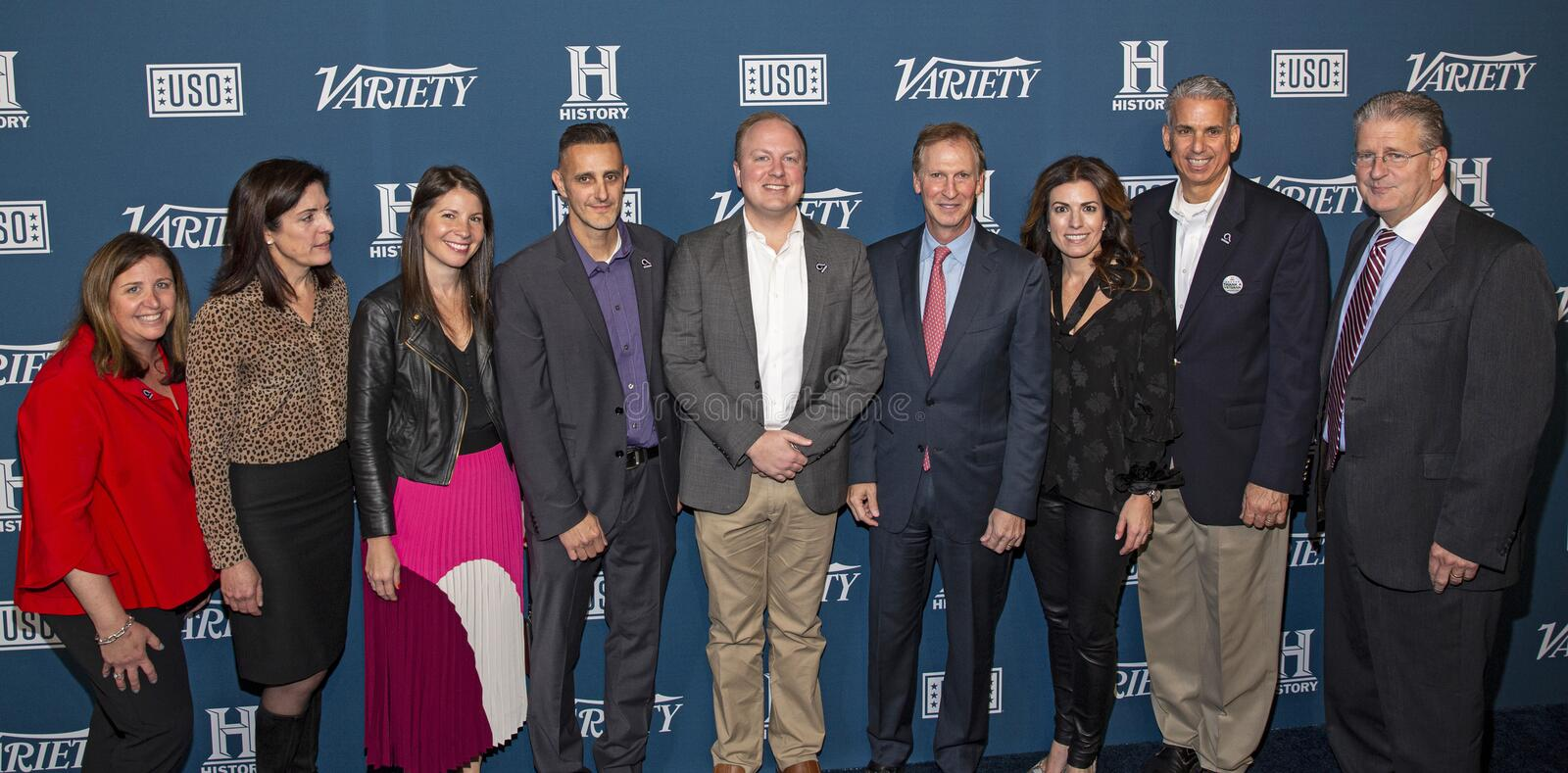 Participants of Variety 3rd Annual Salute to Service stock photography