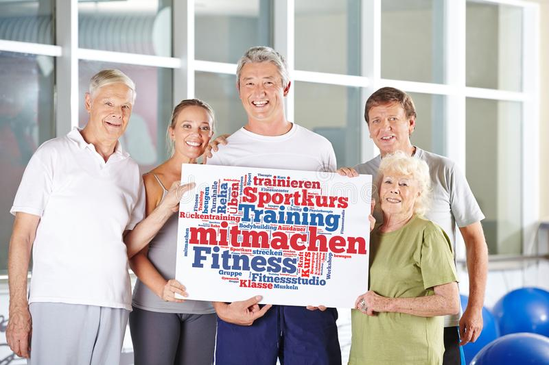 Participate in the fitness center stock photo