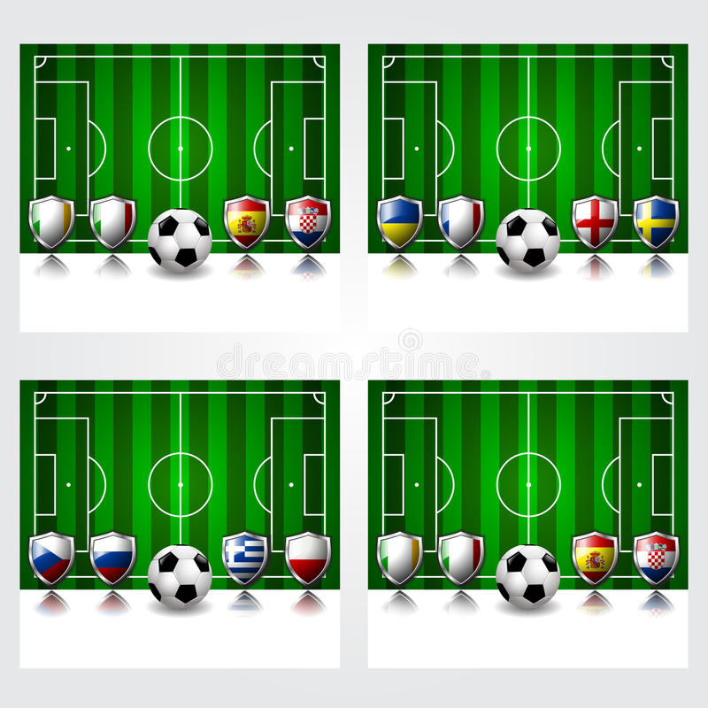 Download Participating Of Europe The Soccer Football Stock Illustration - Image: 25393215