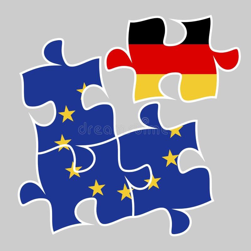 Participation de l'Allemagne dans le concept d'euro-économie illustration stock