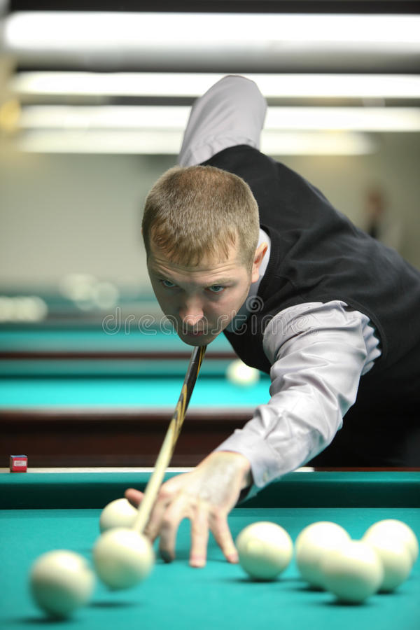 Participiant Take Part In Competition Of Billiard Editorial Stock Photo