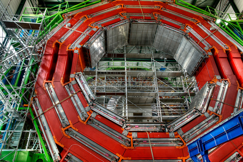 Particle accelerator royalty free stock photo