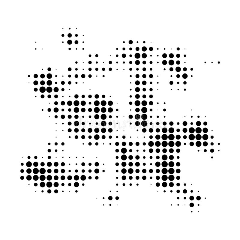 Particle Swarm Halftone Dotted Icon stock illustration