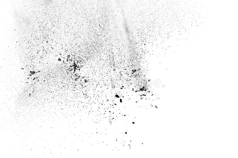 Particles of charcoal stock image